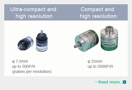 Ultra-compact and high resolution,Rotary encoders